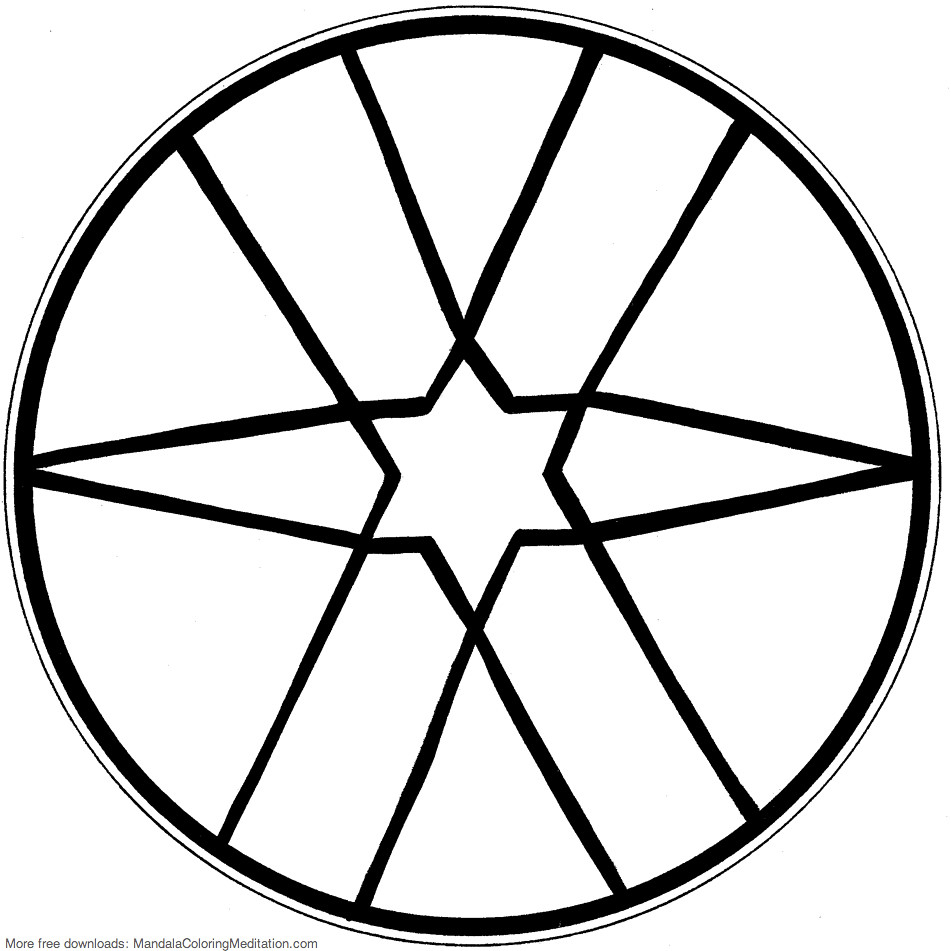 Coloring Page Of A Star Printable Children Coloring Page Star Mandala A Star Prin Flickr
