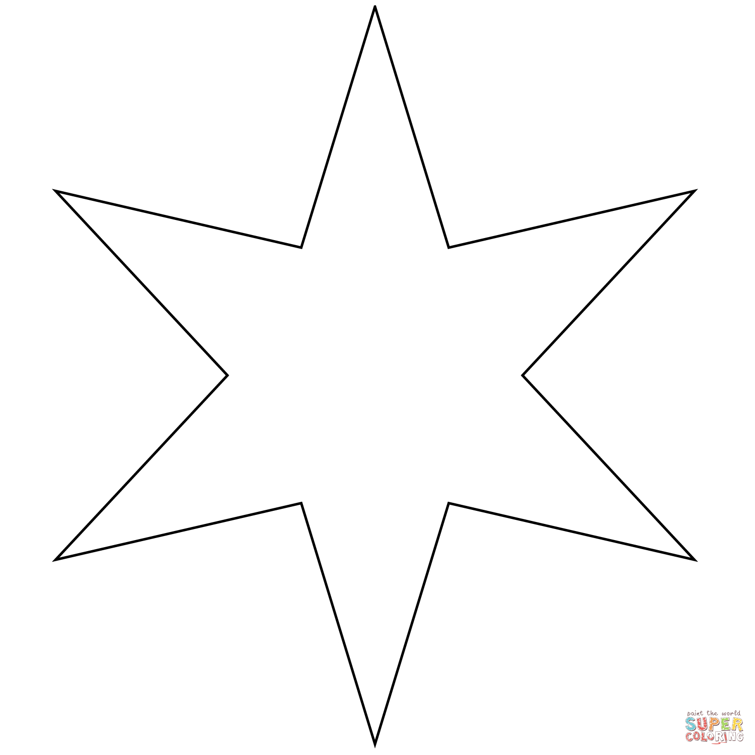 Coloring Page Of A Star Six Pointed Star Coloring Page Free Printable Coloring Pages