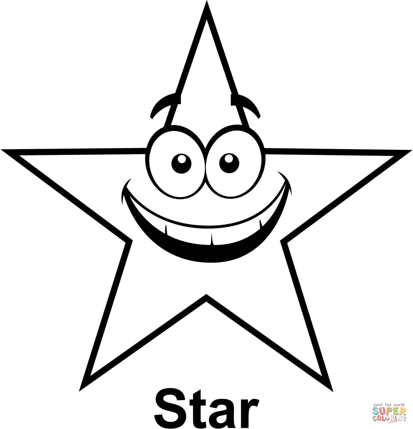Coloring Page Of A Star Star Coloring Pages Free Printable Pictures