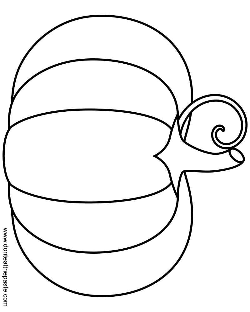 Coloring Page Of Pumpkin Pumpkin Coloring Pages Zeichnung Printable A Simple Pumpkin Coloring