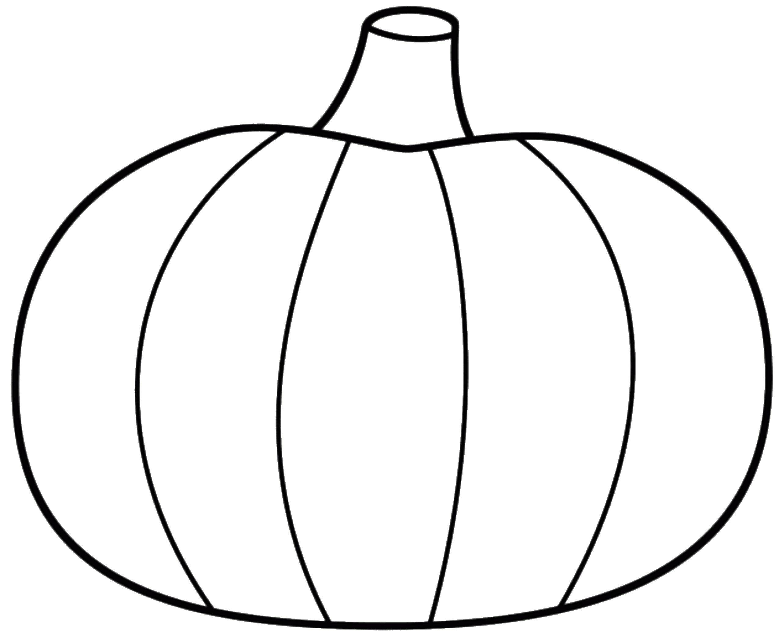 Coloring Page Of Pumpkin Pumpkin One Simple Pumpkin To Color Coloring Pages