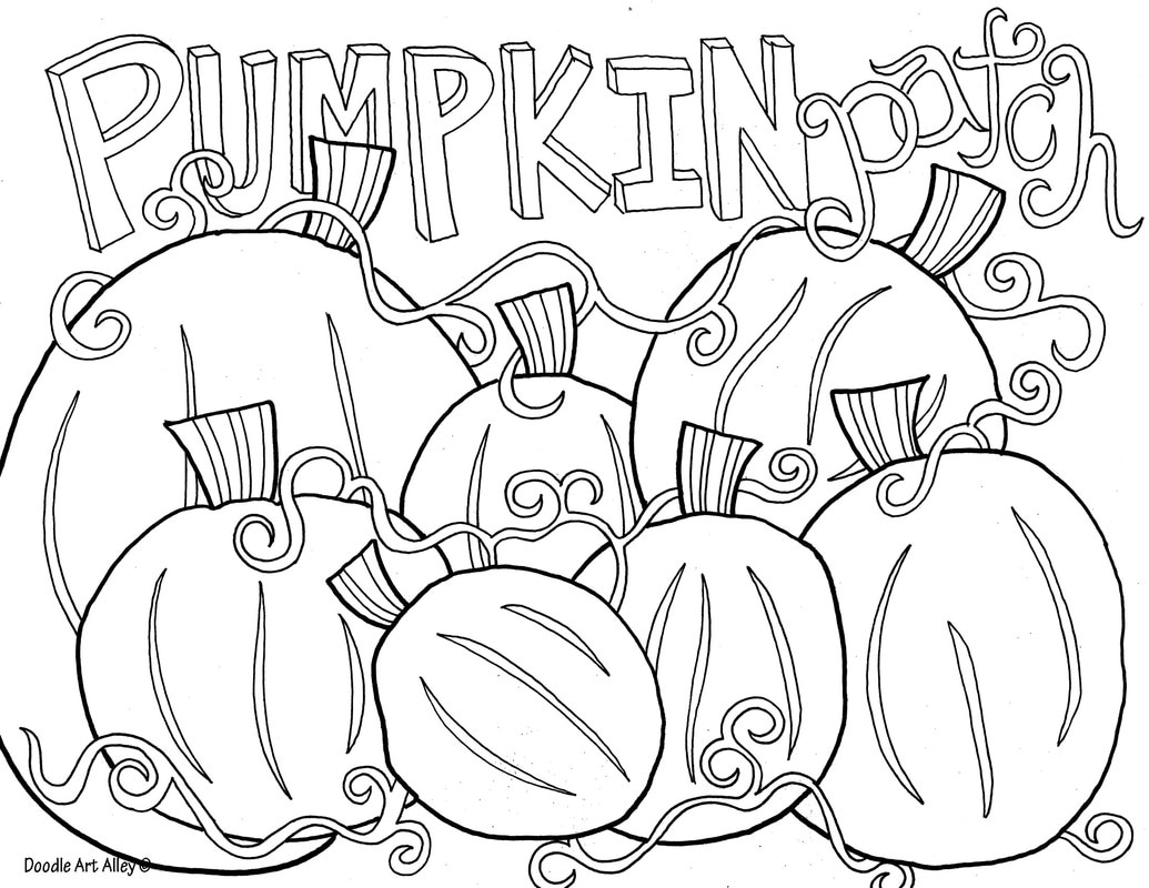 Coloring Page Of Pumpkin Thanksgiving Coloring Pages Doodle Art Alley