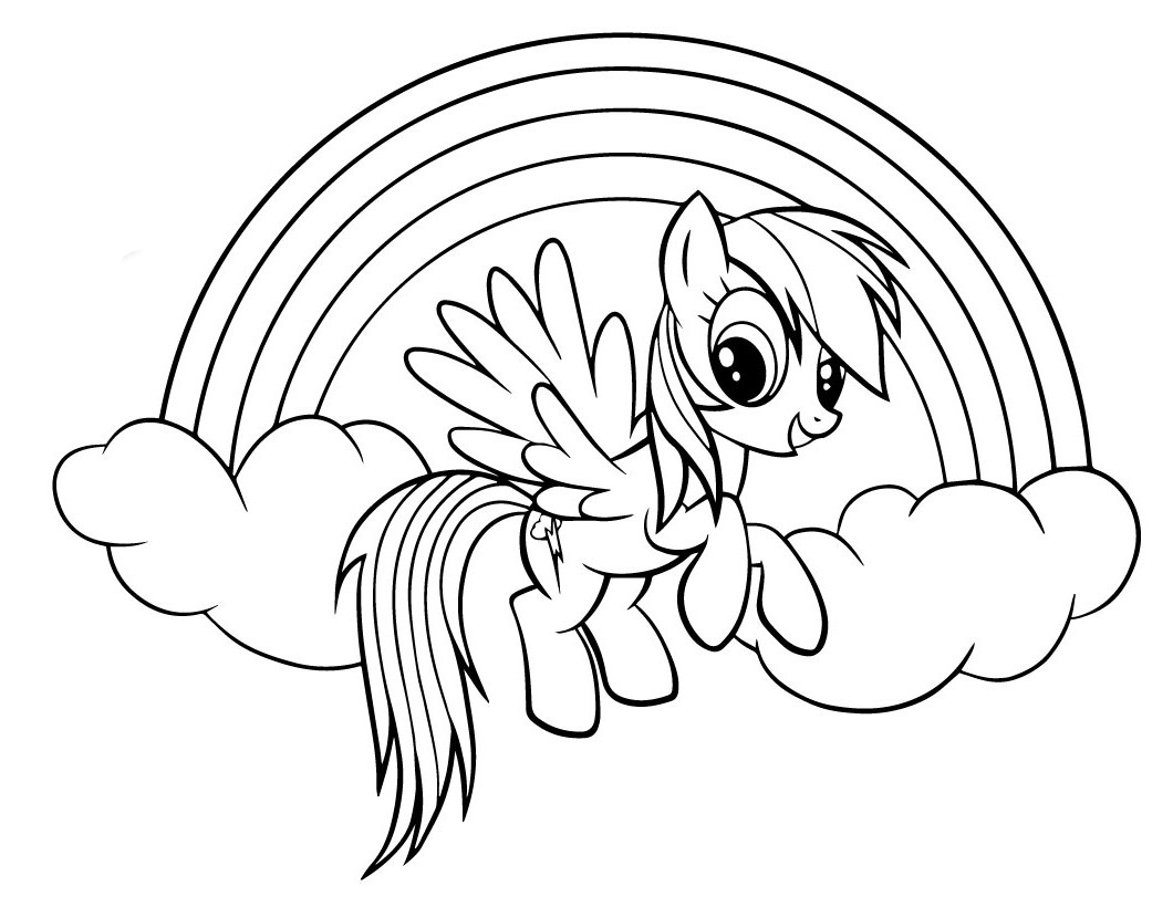 Coloring Pages For 10 Year Old Girls Rainbow Dash Coloring Pages To Download And Print For Free