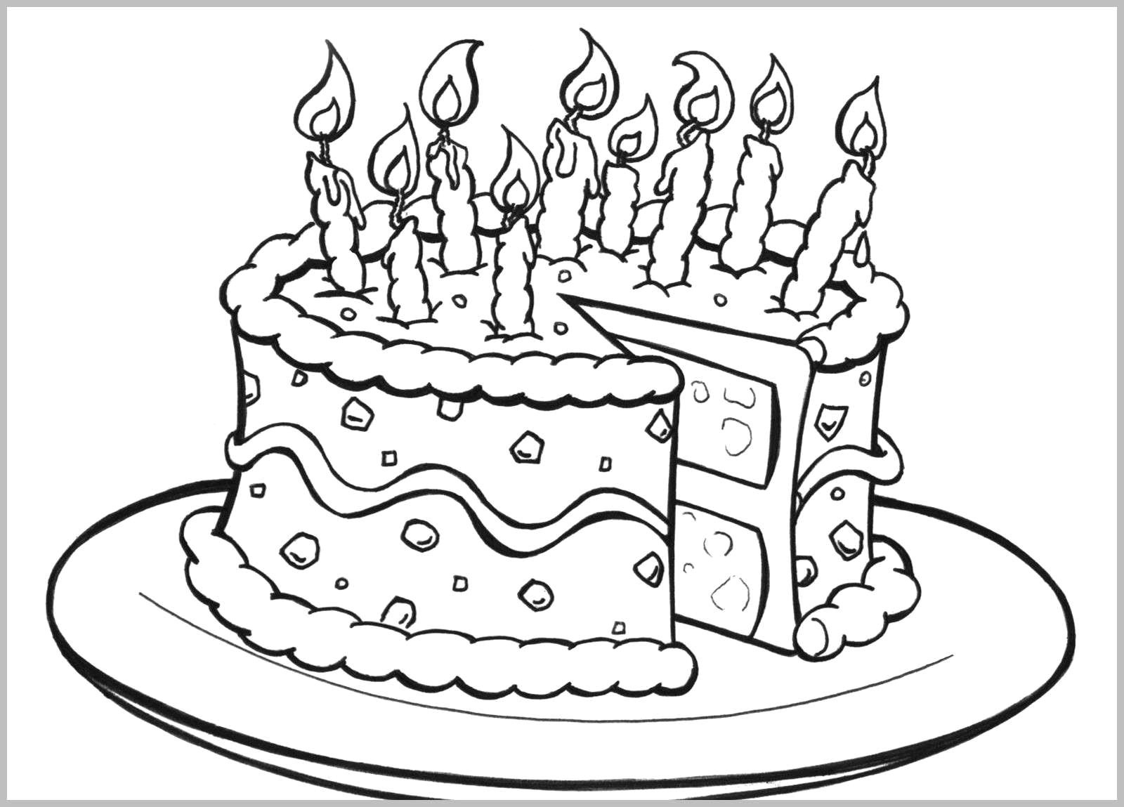 Coloring Pages For Birthday Coloring Ideas Free Printable Birthday Cake Coloring Pages For
