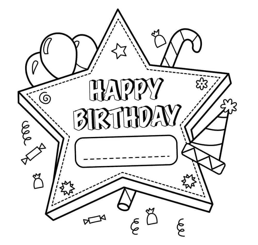 Coloring Pages For Birthday Coloring Pages Free Printable Happy Birthday Coloring Pages For