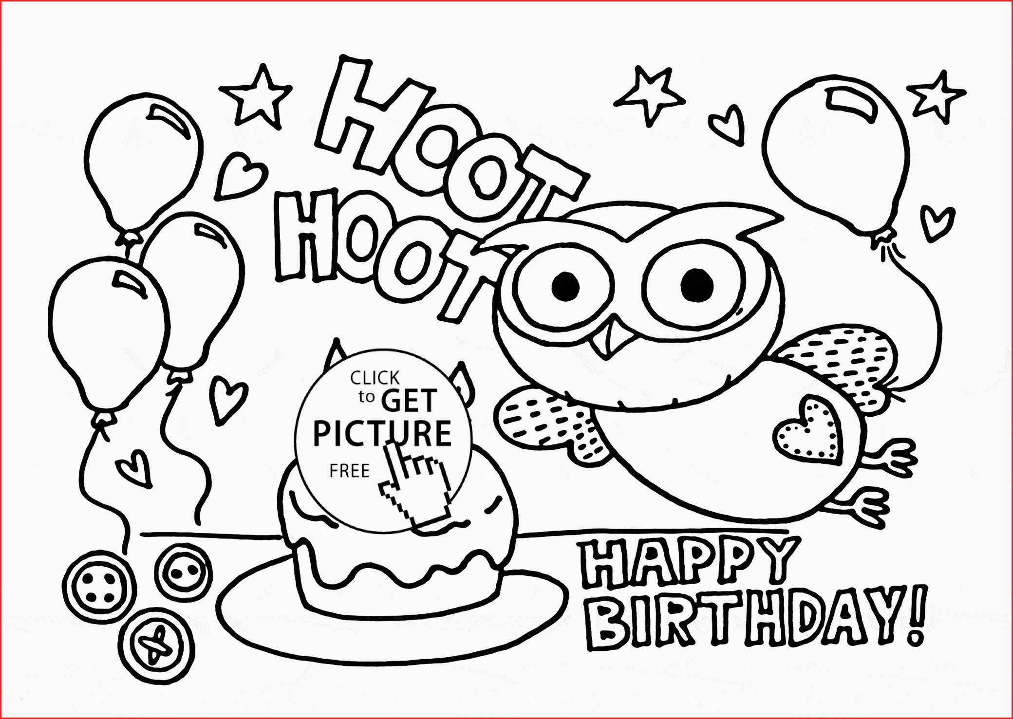 Coloring Pages For Birthday Happy Birthday Drawing 196921 Lovely Birthday Card Coloring Page