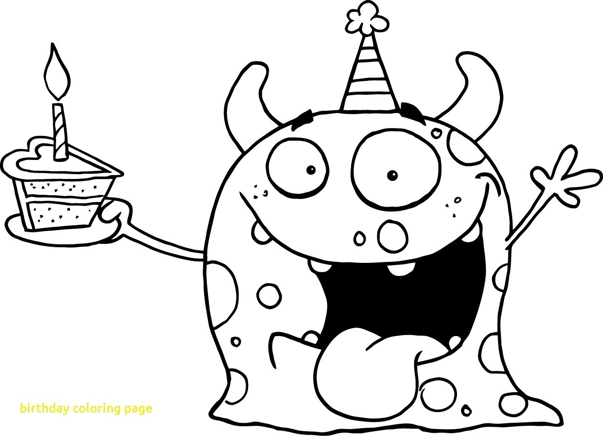 Coloring Pages For Birthday Merry Free Birthday Coloring Pages Colori Cool Happy Seomybrand Com