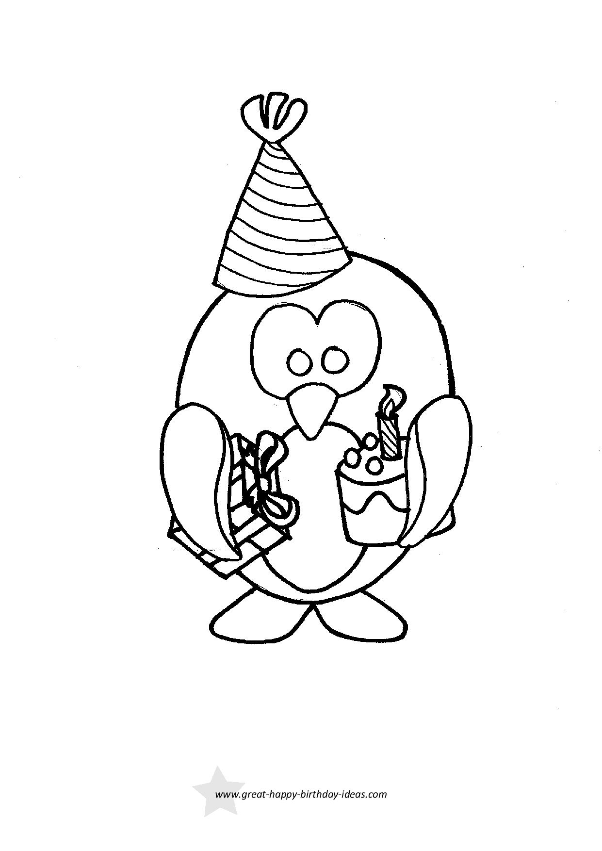 Coloring Pages For Birthday Printable Birthday Coloring Pages
