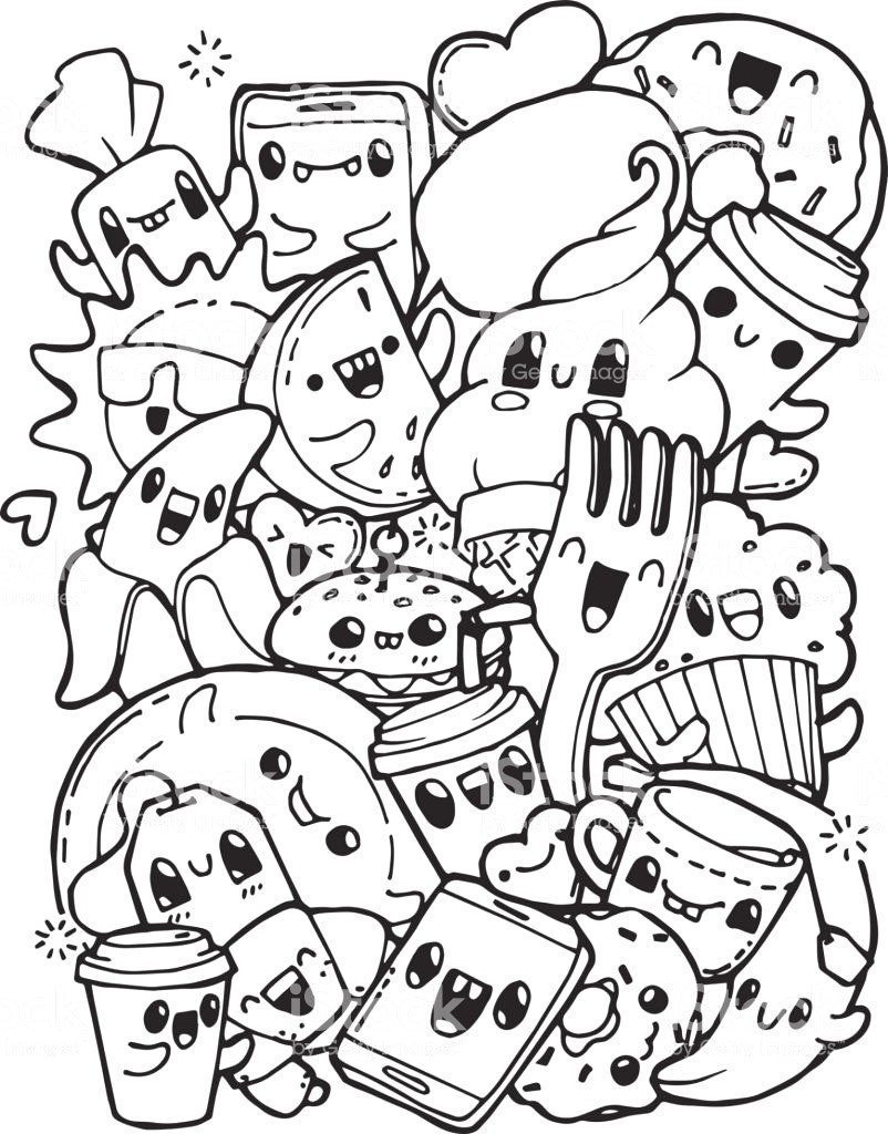 Coloring Pages For Kids To Print Out Coloring Food Coloring Pages Cute Frees For Kids Printable Pizza