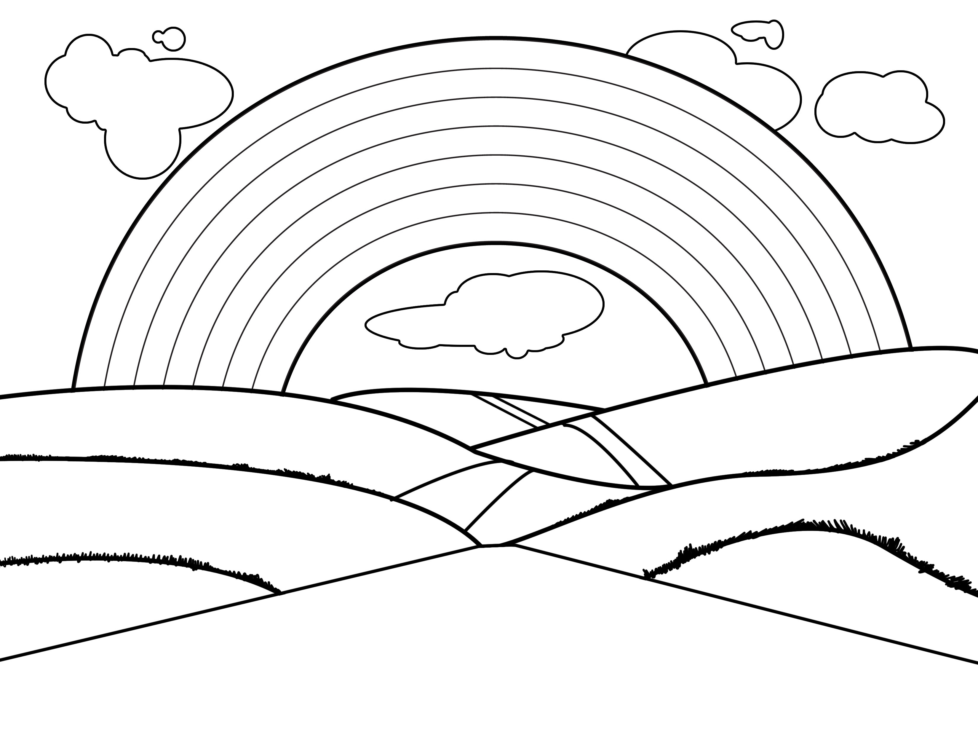 Coloring Pages For Kids To Print Out Free Printable Rainbow Coloring Pages For Kids