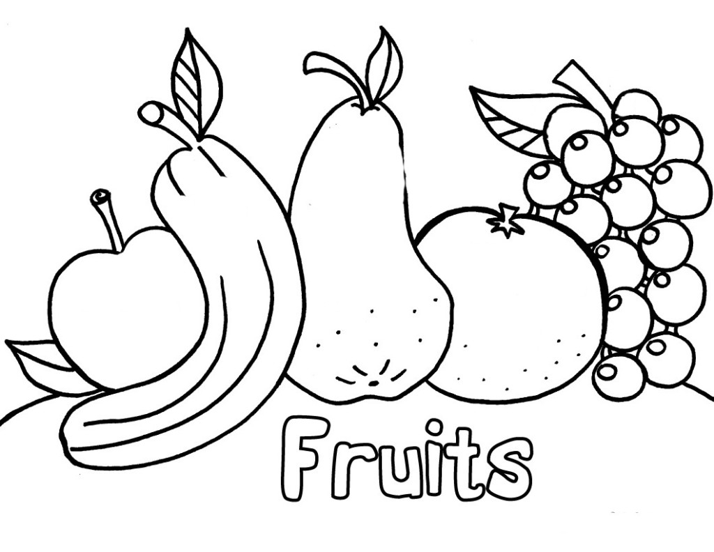 Coloring Pages For Kids To Print Out Images Of Coloring Pages Of Fruits And Vegetables For Kids