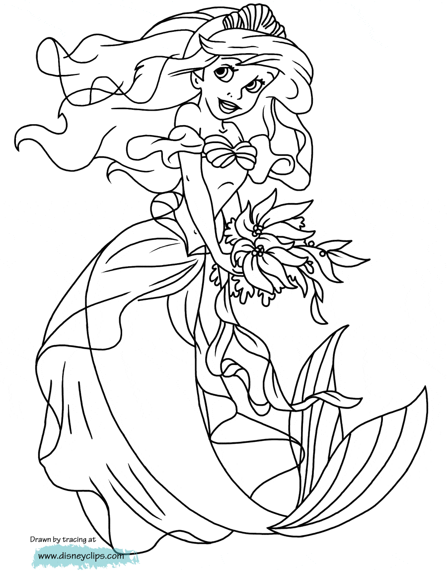 Coloring Pages Of Little Mermaid Coloring Ideas Thettle Mermaid Coloring Pages Free To Print