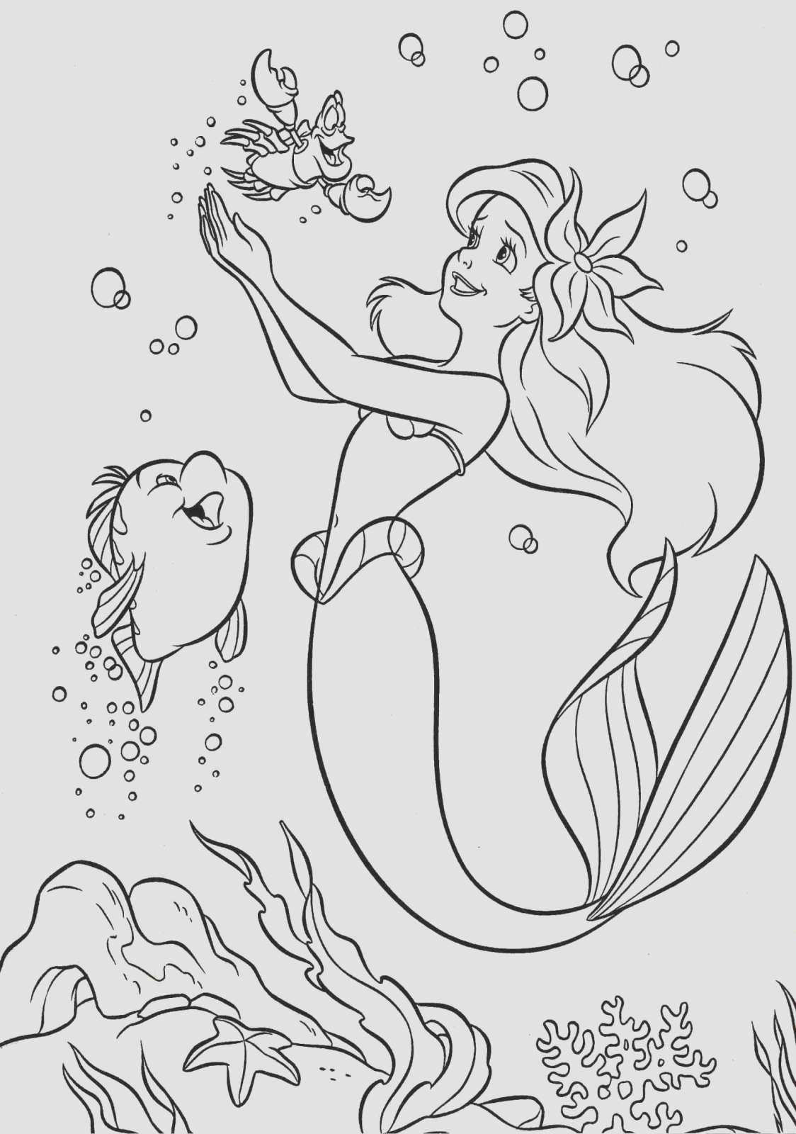 Coloring Pages Of Little Mermaid Disney Characters Printable Coloring Pages Colouring Pages Coloring