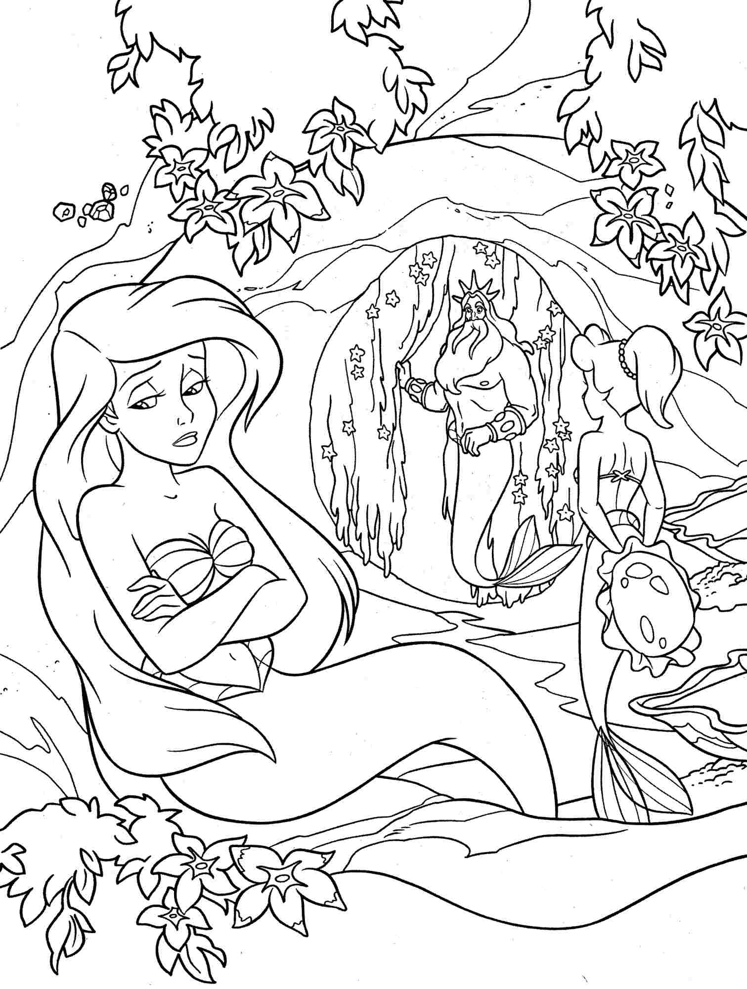 Coloring Pages Of Little Mermaid Free Little Mermaid Coloring Pages At Getdrawings Free For