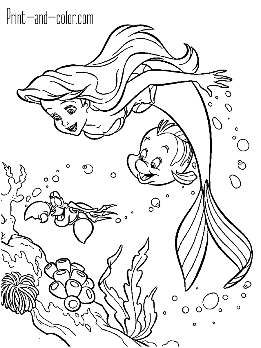Coloring Pages Of Little Mermaid The Little Mermaid Coloring Pages Print And Color