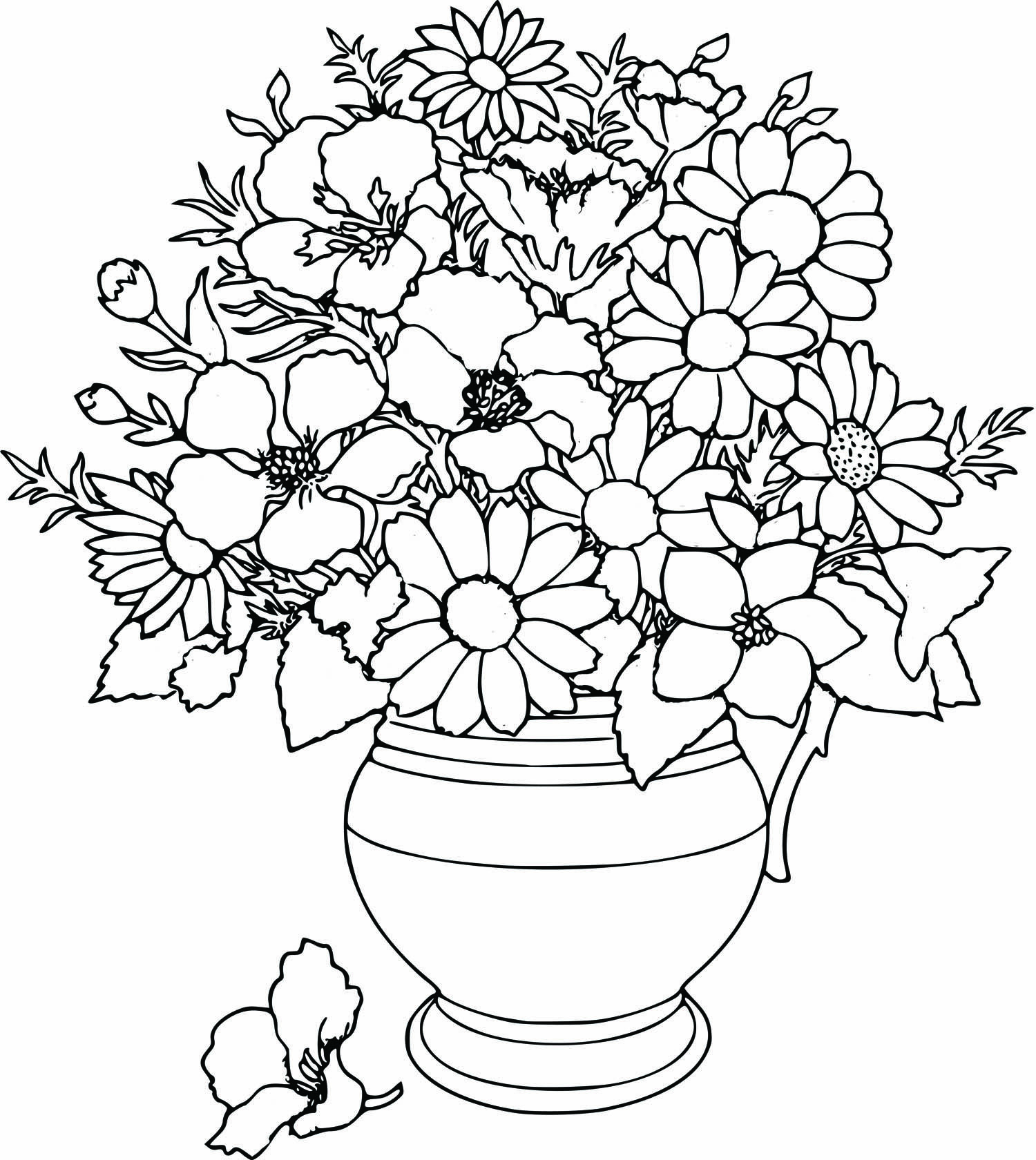 Coloring Pages On Pinterest Free Beautifull Flower Coloring Pages Pinterest Throughout For Girls