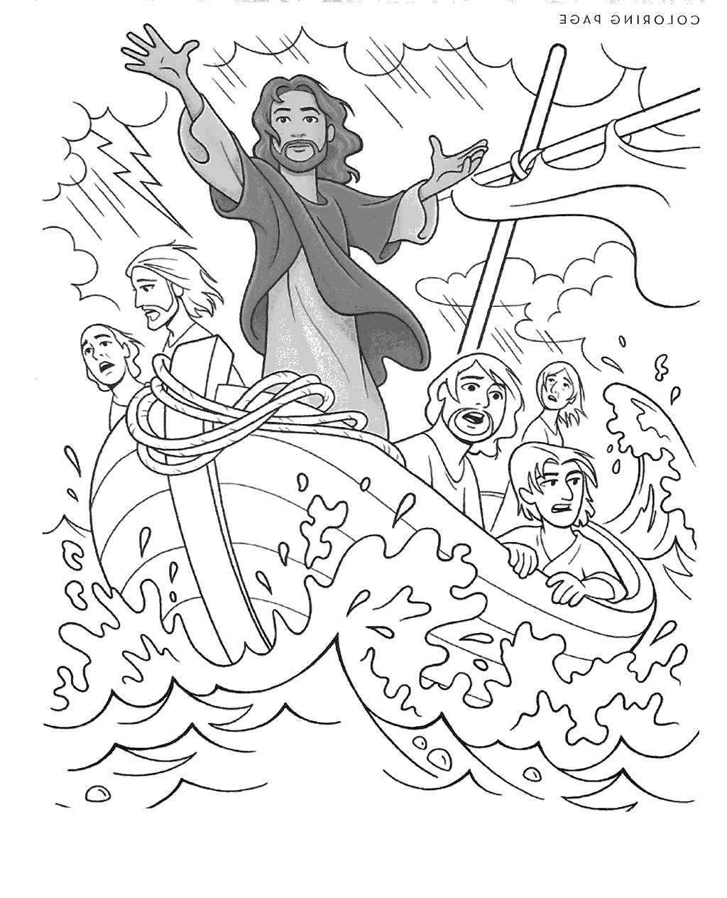 Coloring Pages On Pinterest Jesus Calms The Storm Coloring Pages Pinterest Black And White