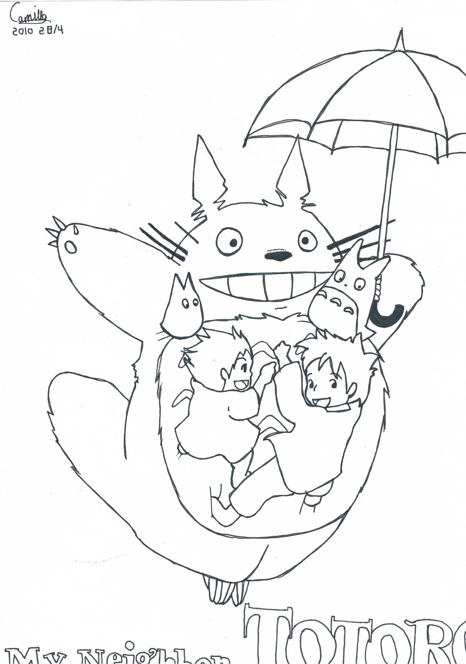 Coloring Pages On Pinterest Mon Voisin Totoro Coloriage Adult Coloring Pages Pinterest