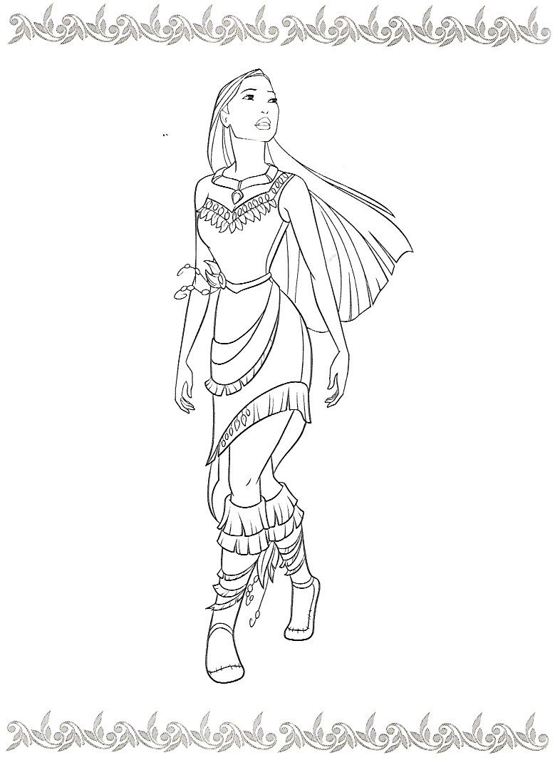 Coloring Pages On Pinterest Surprising Design Disney Princess Coloring Pages Pocahontas Pin