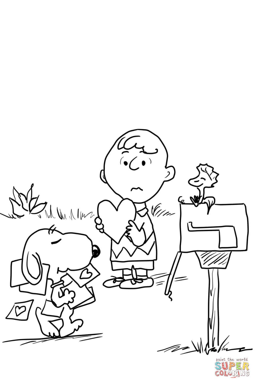 Coloring Pages Valentine Be My Valentine Charlie Brown Coloring Page Free Printable