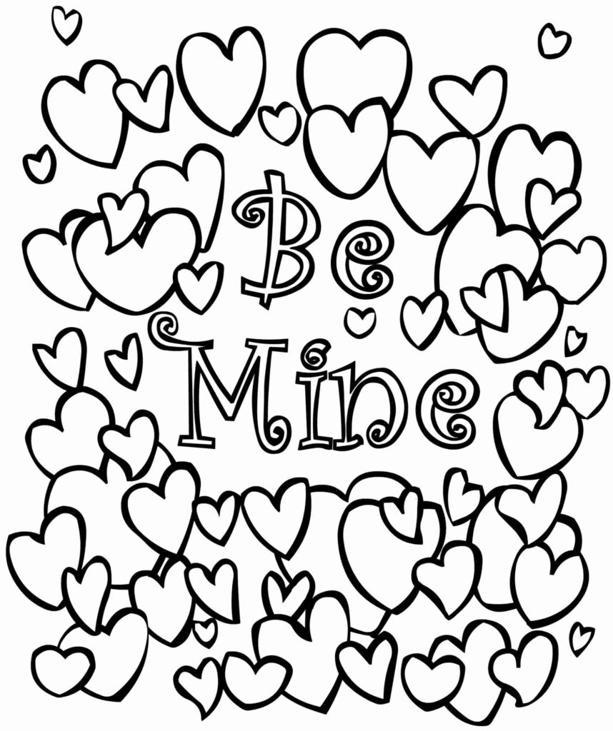 Coloring Pages Valentine Coloring Arts Free Valentine Coloring Pages To Print 8x10 For Sale