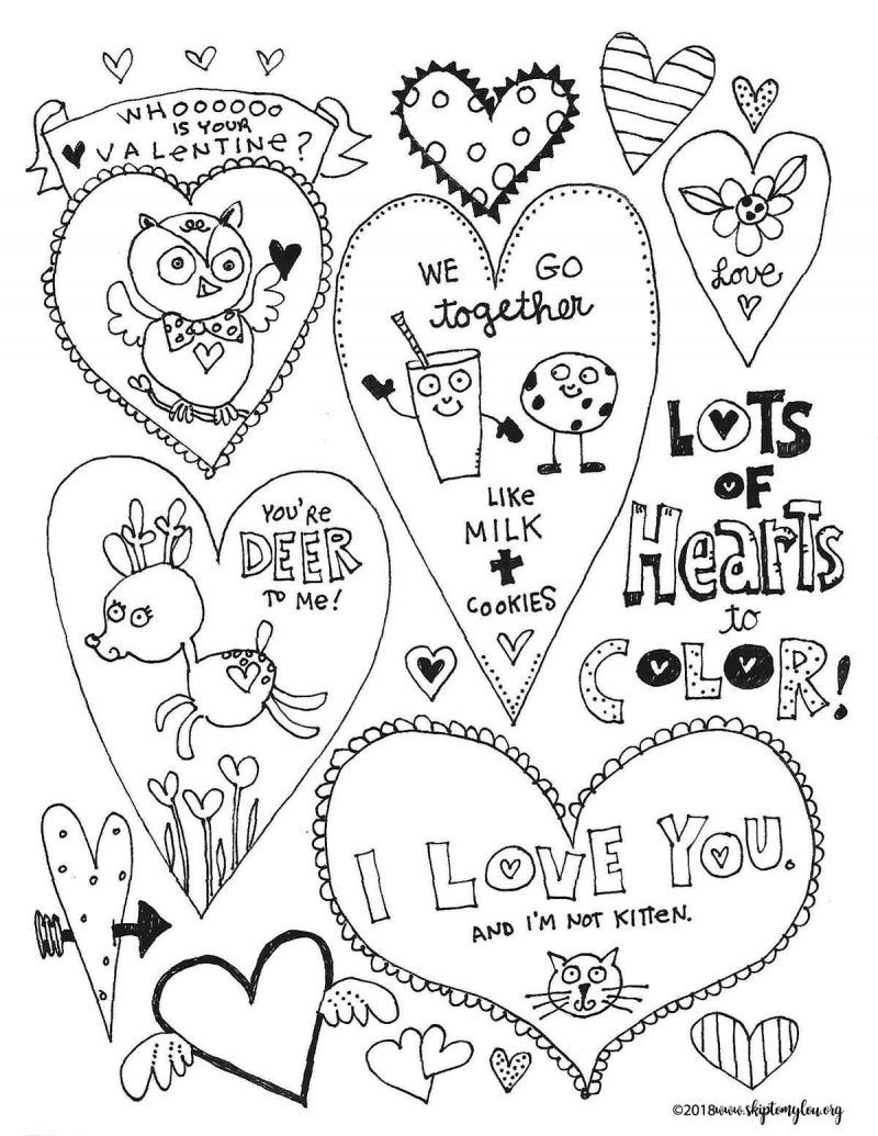 Coloring Pages Valentine Coloring Ideas Adorable Free Heart Coloring Pages Valentines Day