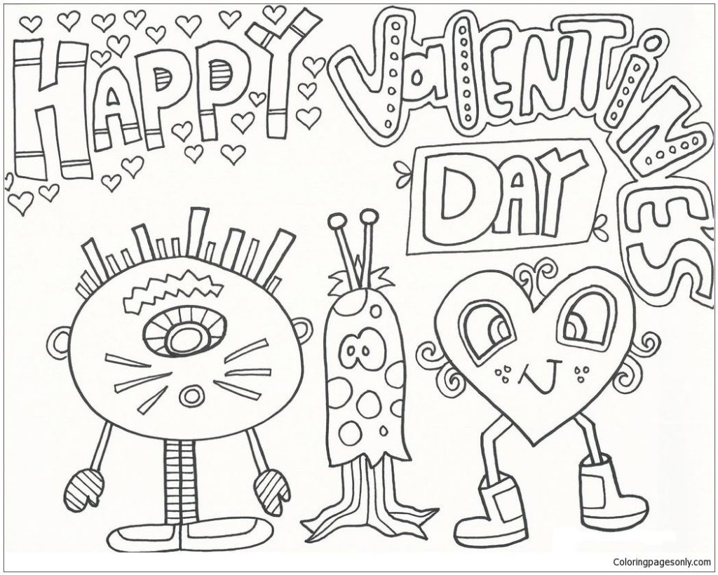 Coloring Pages Valentine Coloring Page Valentineoodle Coloring Pages Printable Page For