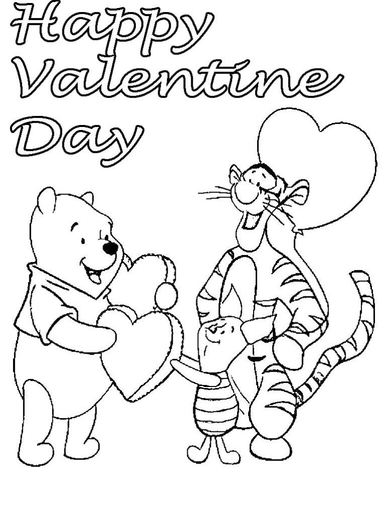 Coloring Pages Valentine Cooloring Book Valentines Disney Coloring Pages Holiday Day Cardse