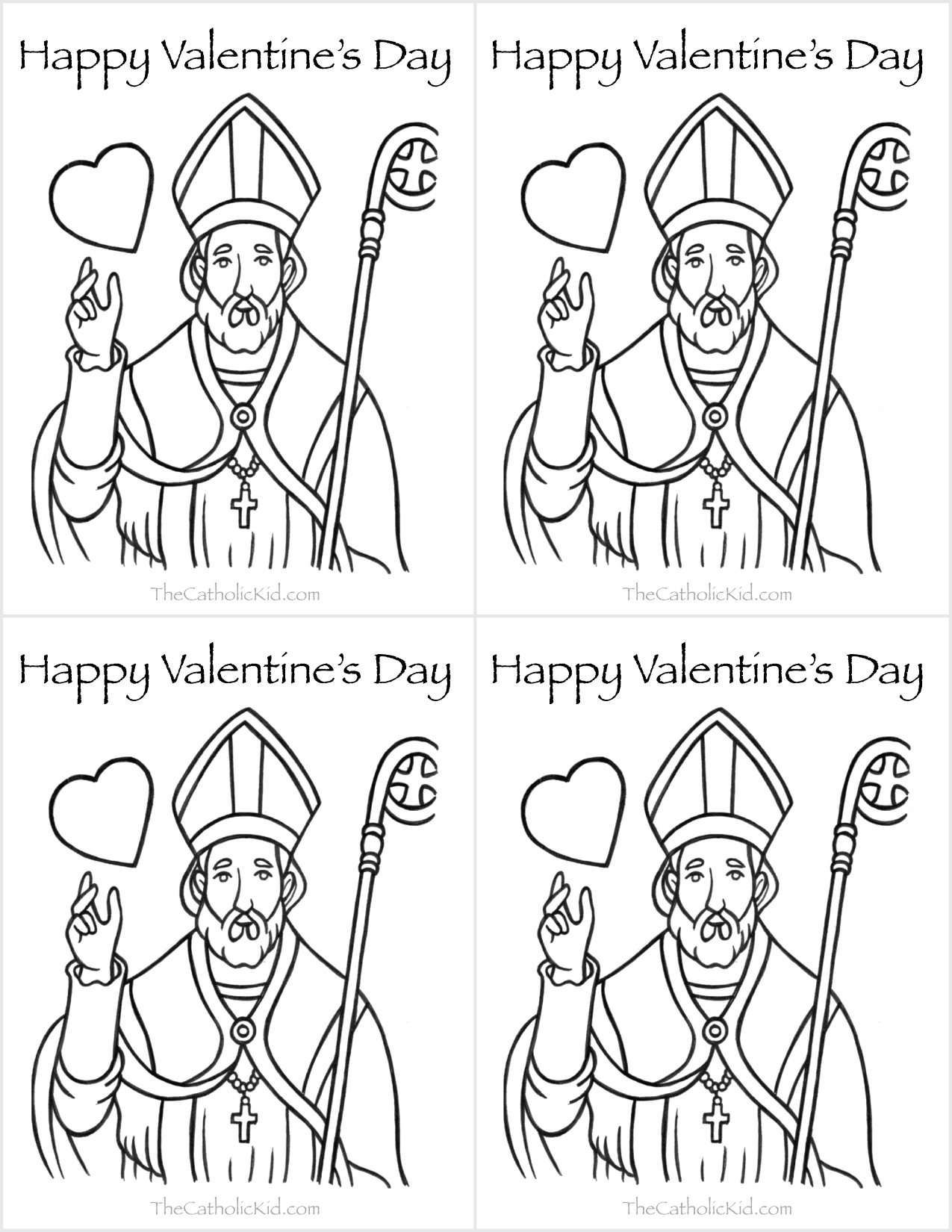 Coloring Pages Valentine Saint Valentine Coloring Page