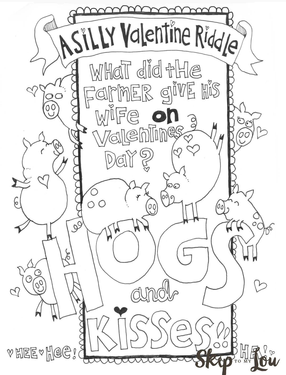 Coloring Pages Valentine The Cutest Valentines Coloring Pages Skip To My Lou