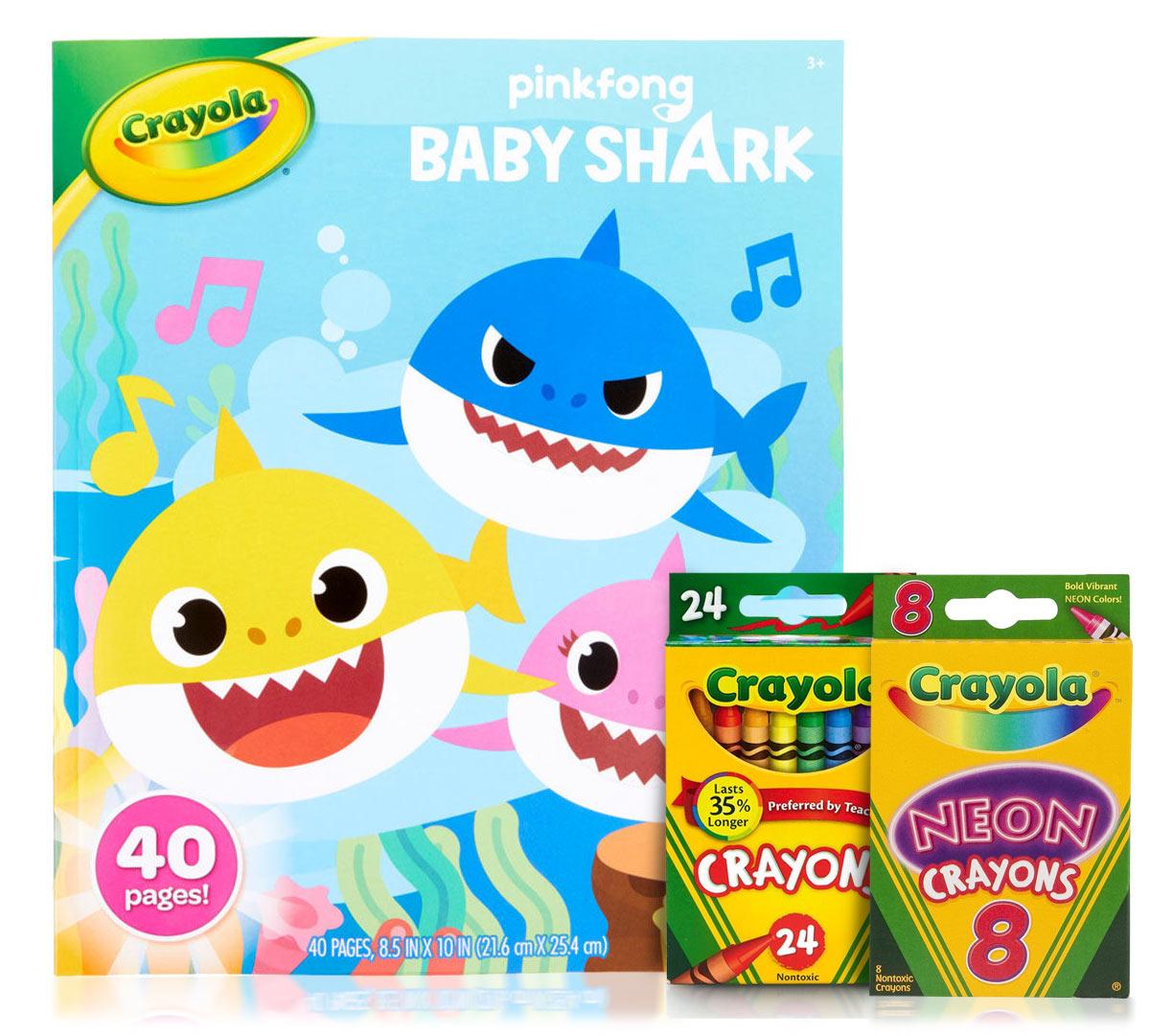 Crayola Fish Coloring Pages Ba Shark Coloring Set With Crayons Crayola Crayola