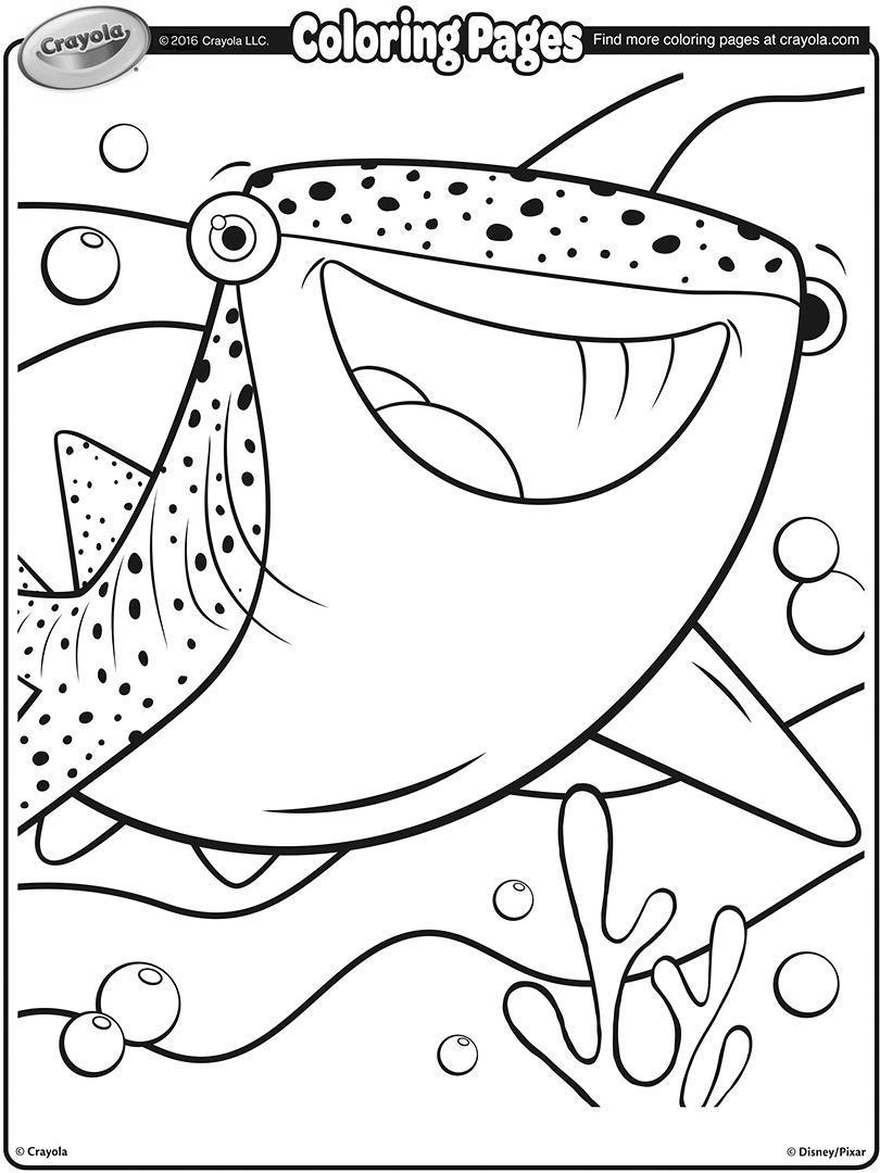 Crayola Fish Coloring Pages Coloring Ideas Shark Coloring Pages Printable Tiger Hand Drawing