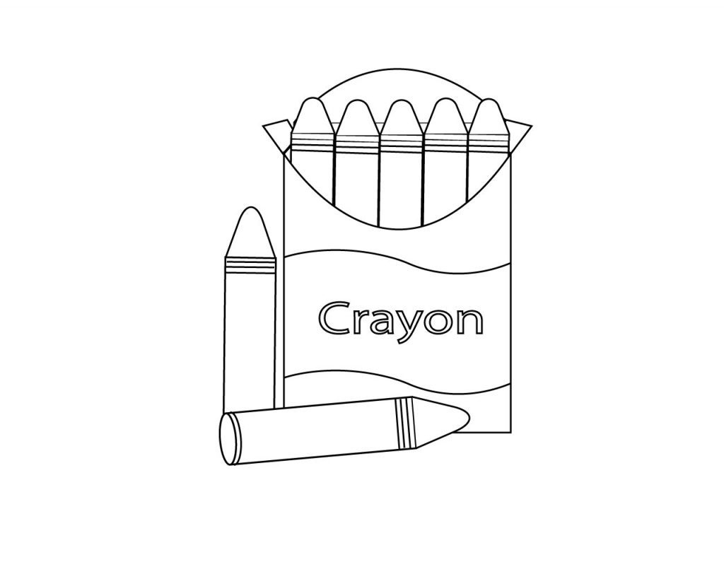 Crayon Coloring Pages Printable Coloring 40 Crayon Coloring Pages