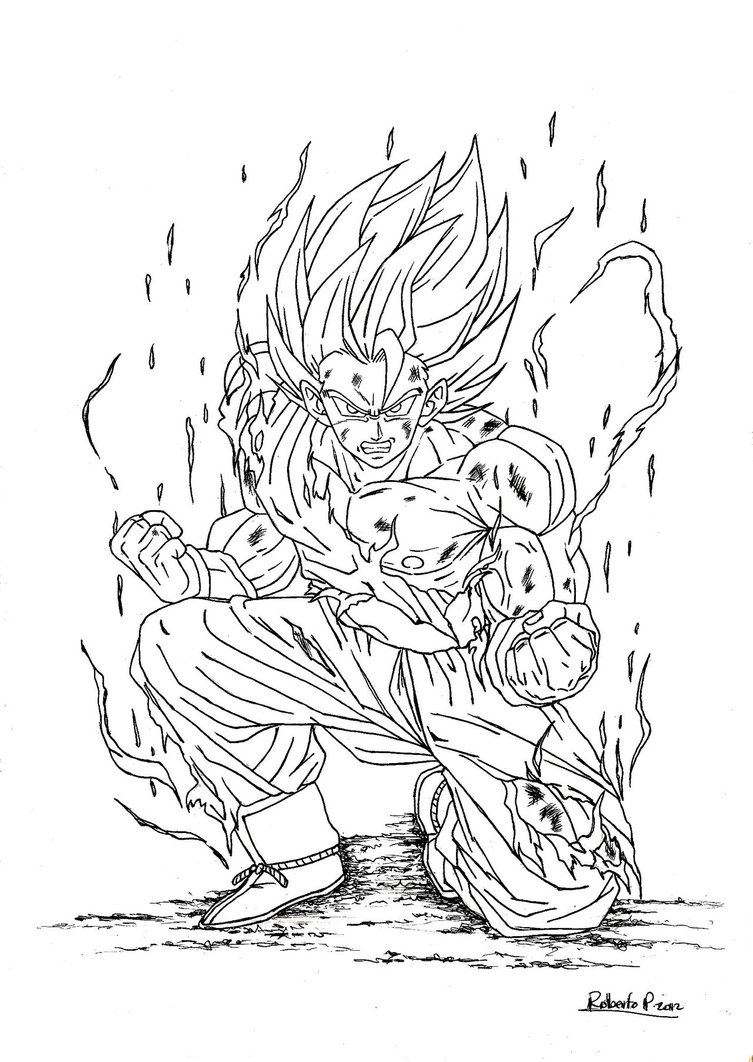 Crayon Coloring Pages Printable Coloring Pages Crayon Coloring Pages Dragon Ball Goku Super Saiyan