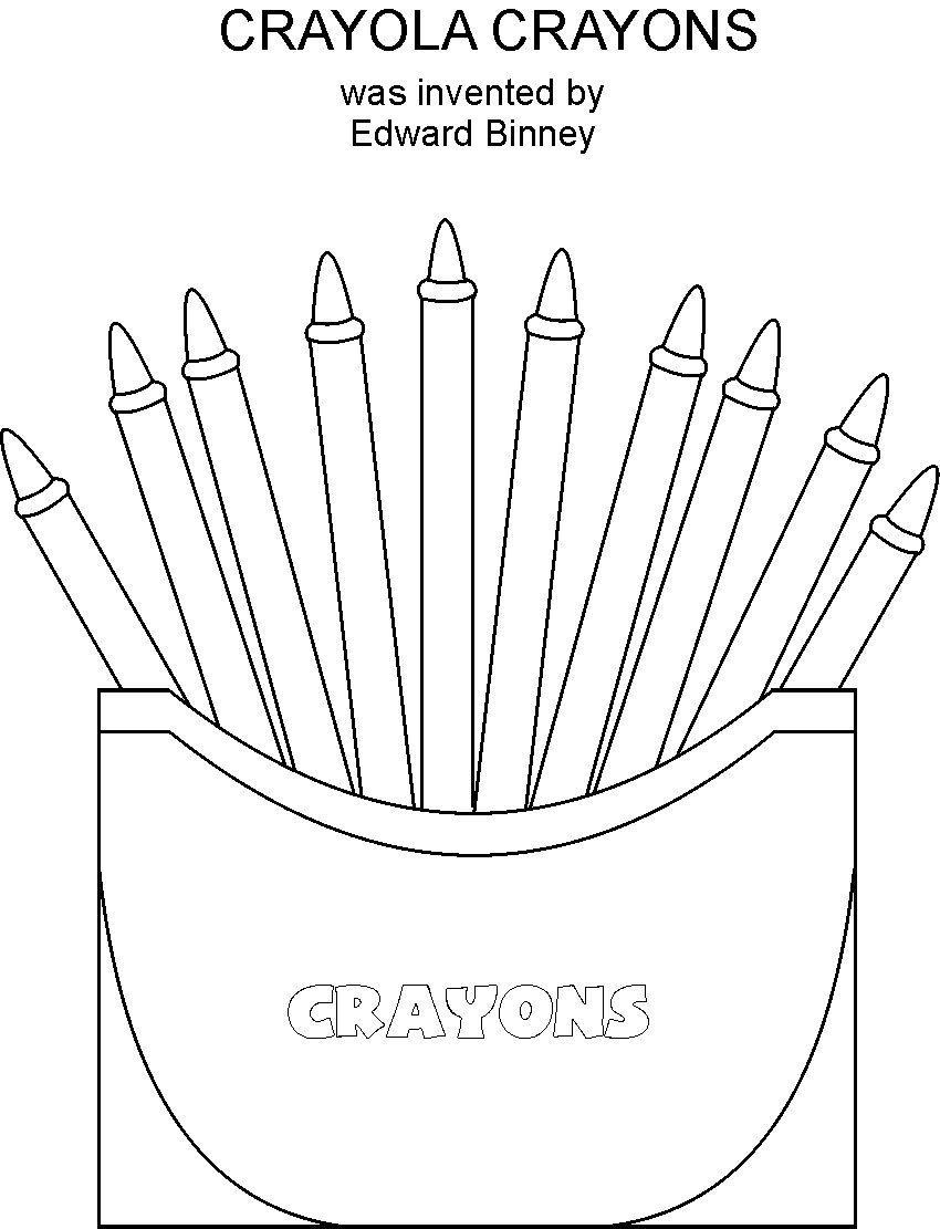 Crayon Coloring Pages Printable Crayons Coloring Printable