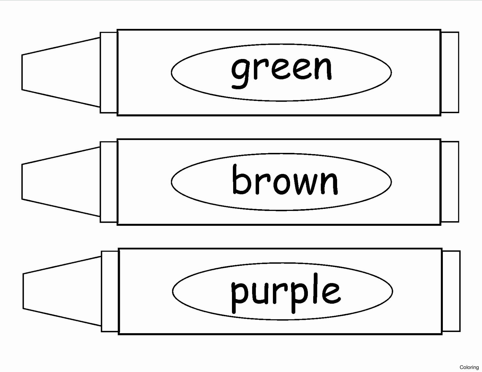 Crayon Coloring Pages Printable Order Crayola Crayons Coloring Pages Print Coloring