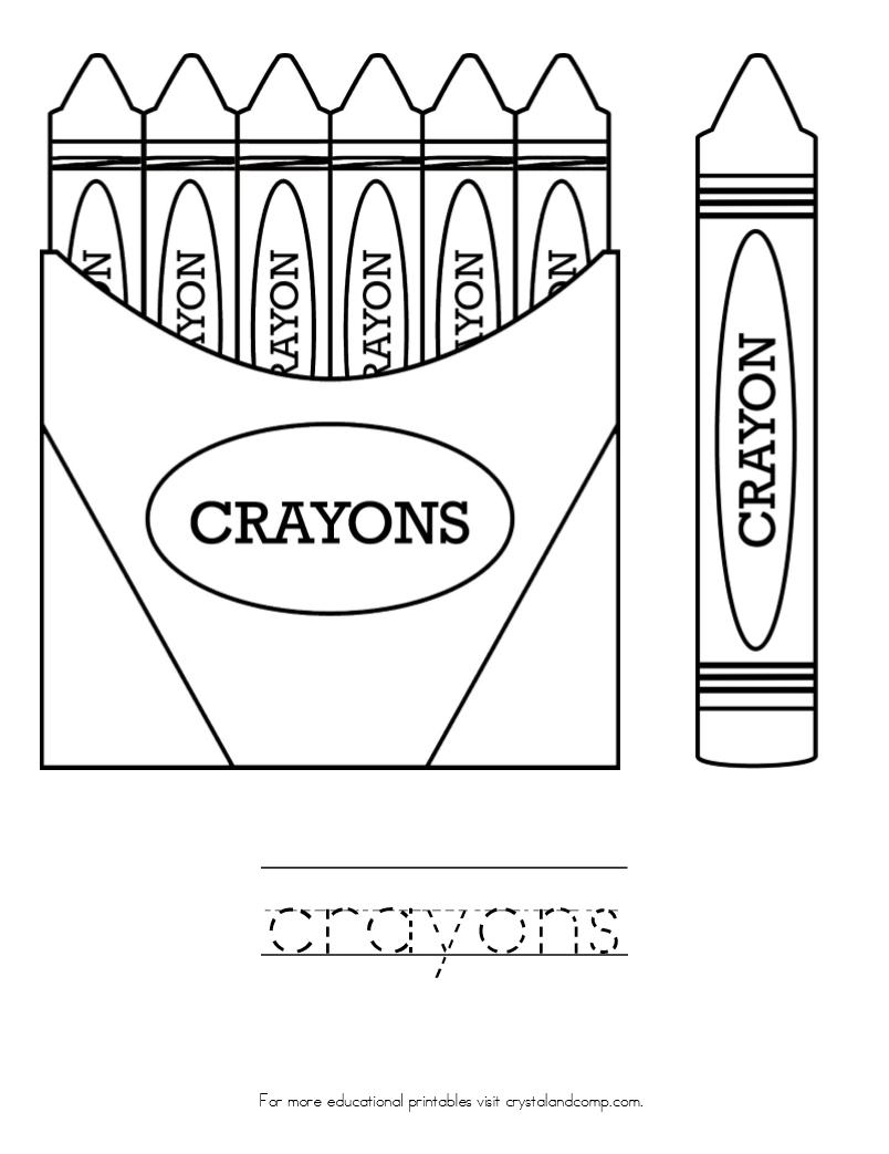 Crayon Coloring Pages Printable Printable Crayon Box Coloring Page Crayola Coloring Pages Alive