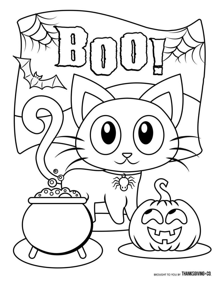 Cute Halloween Coloring Pages Printable Coloring Book World Incredible Halloween Coloring Pages For Kids