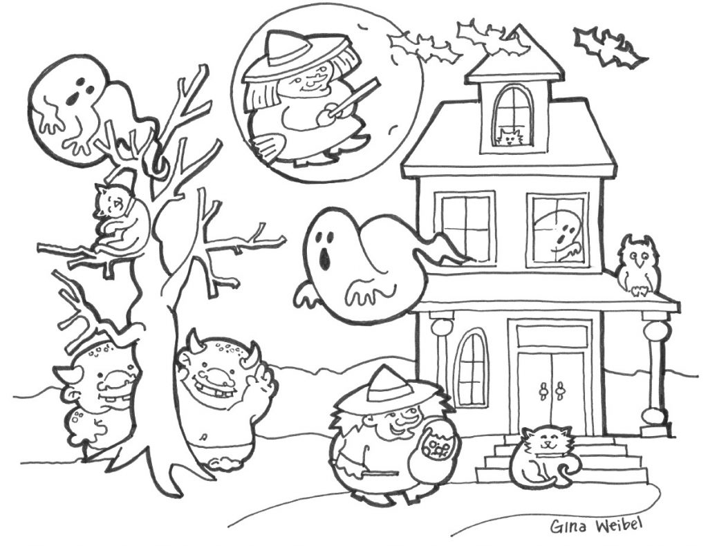 Cute Halloween Coloring Pages Printable Coloring Books Free Halloween Coloring Pages Printable Rises