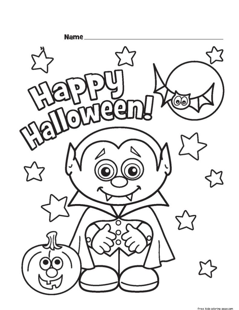 Cute Halloween Coloring Pages Printable Coloring Cute Halloween Coloringes Printable Thanhhoacar Com