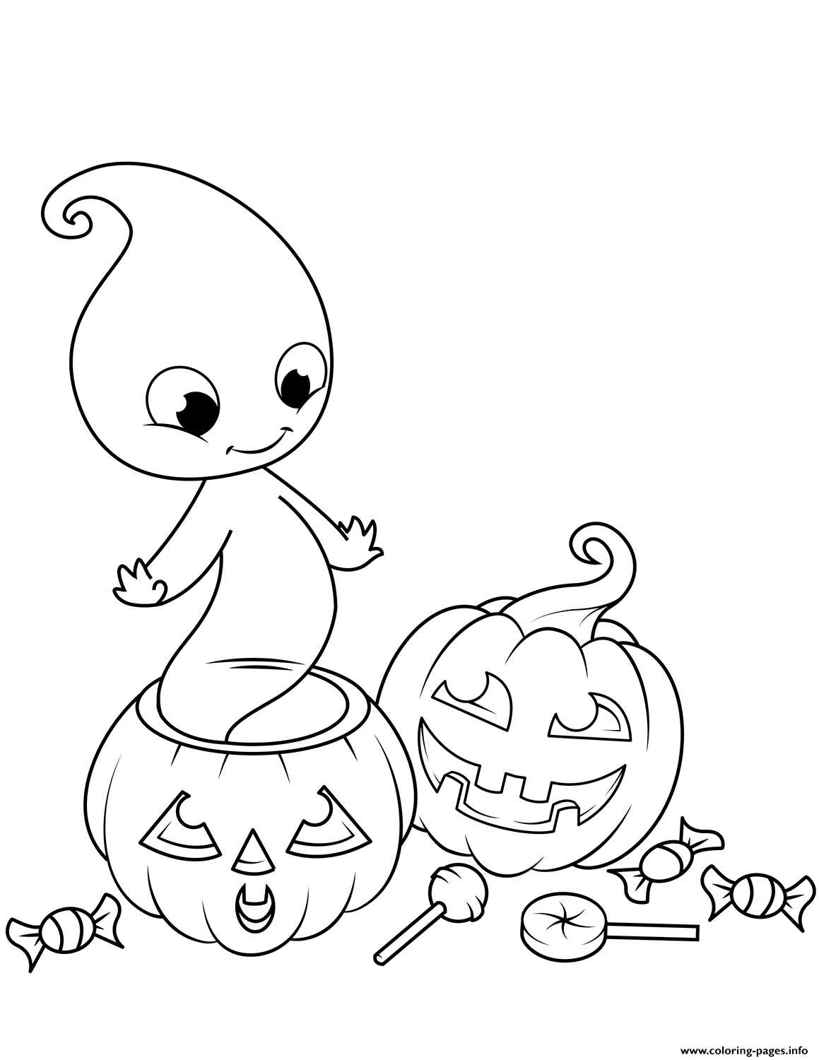 Cute Halloween Coloring Pages Printable Cute Ghost From Jack O Lantern Halloween Coloring Pages Printable