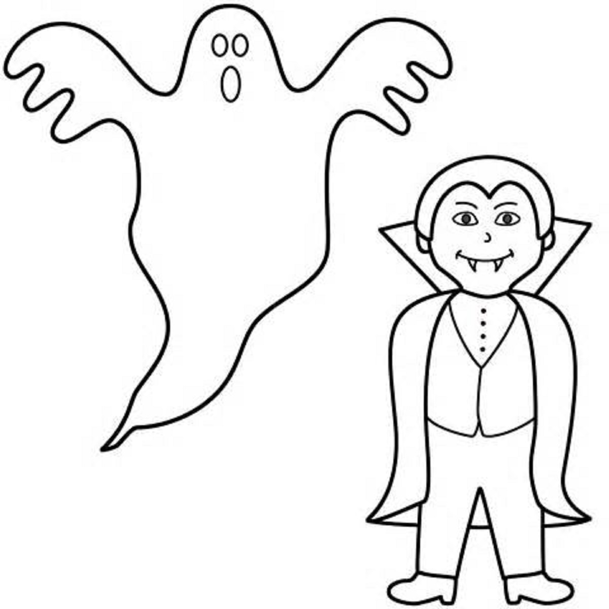 Cute Halloween Coloring Pages Printable Easy Coloring Pages Halloween With Cute Halloween Coloring Pages