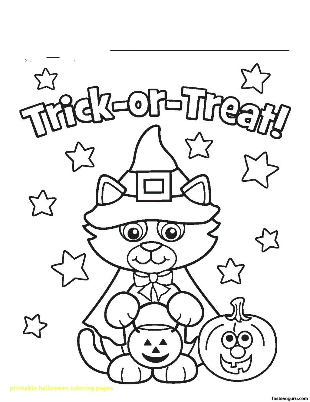 Cute Halloween Coloring Pages Printable Printable Halloween Coloring Pages To Print Photo Album