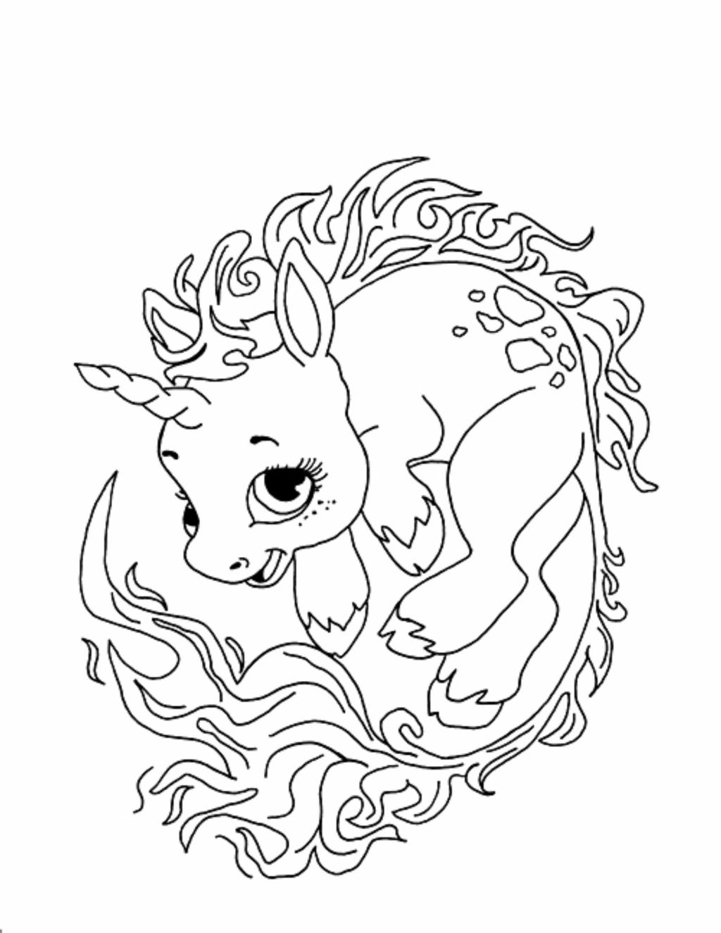 Cute Unicorn Coloring Pages Coloring Ideas Cute Unicorn Coloring Pages For Kids At Getdrawings
