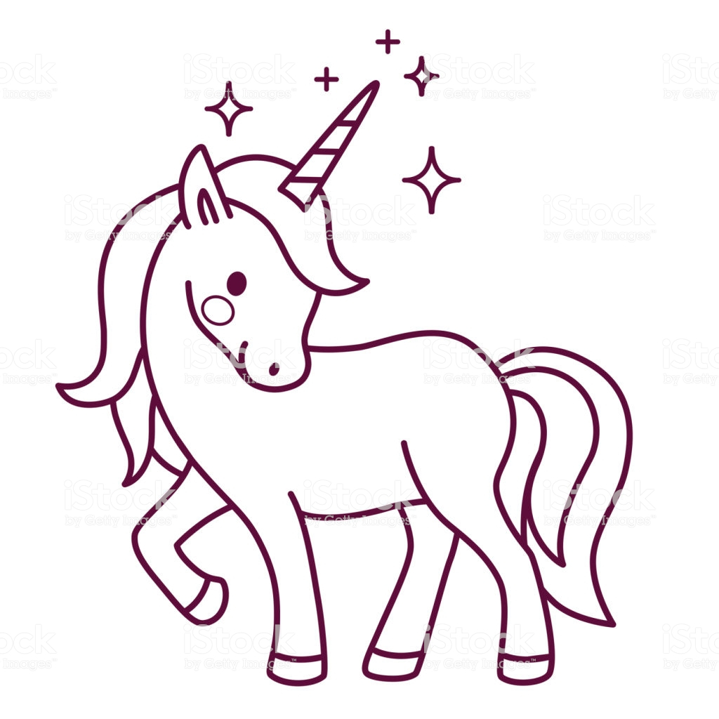Cute Unicorn Coloring Pages Coloring Pages Cute Unicorn Simple Cartoon Vectorg Page
