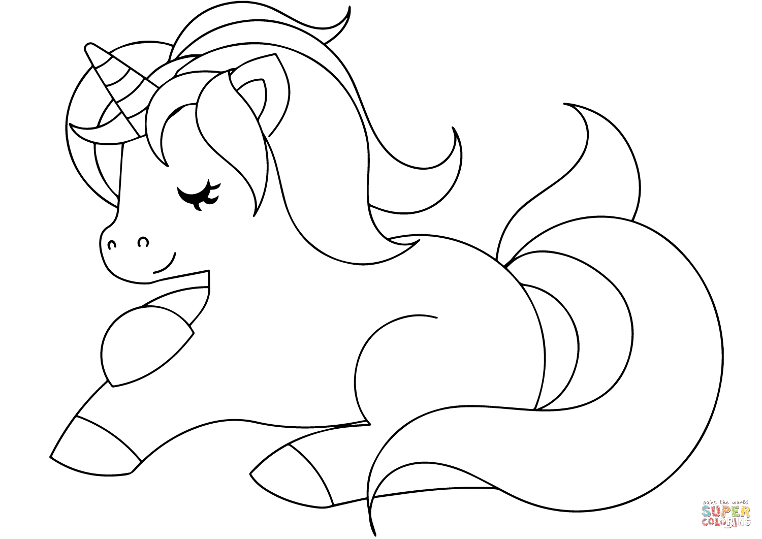 Cute Unicorn Coloring Pages Cute Unicorn Coloring Page Free Printable Coloring Pages