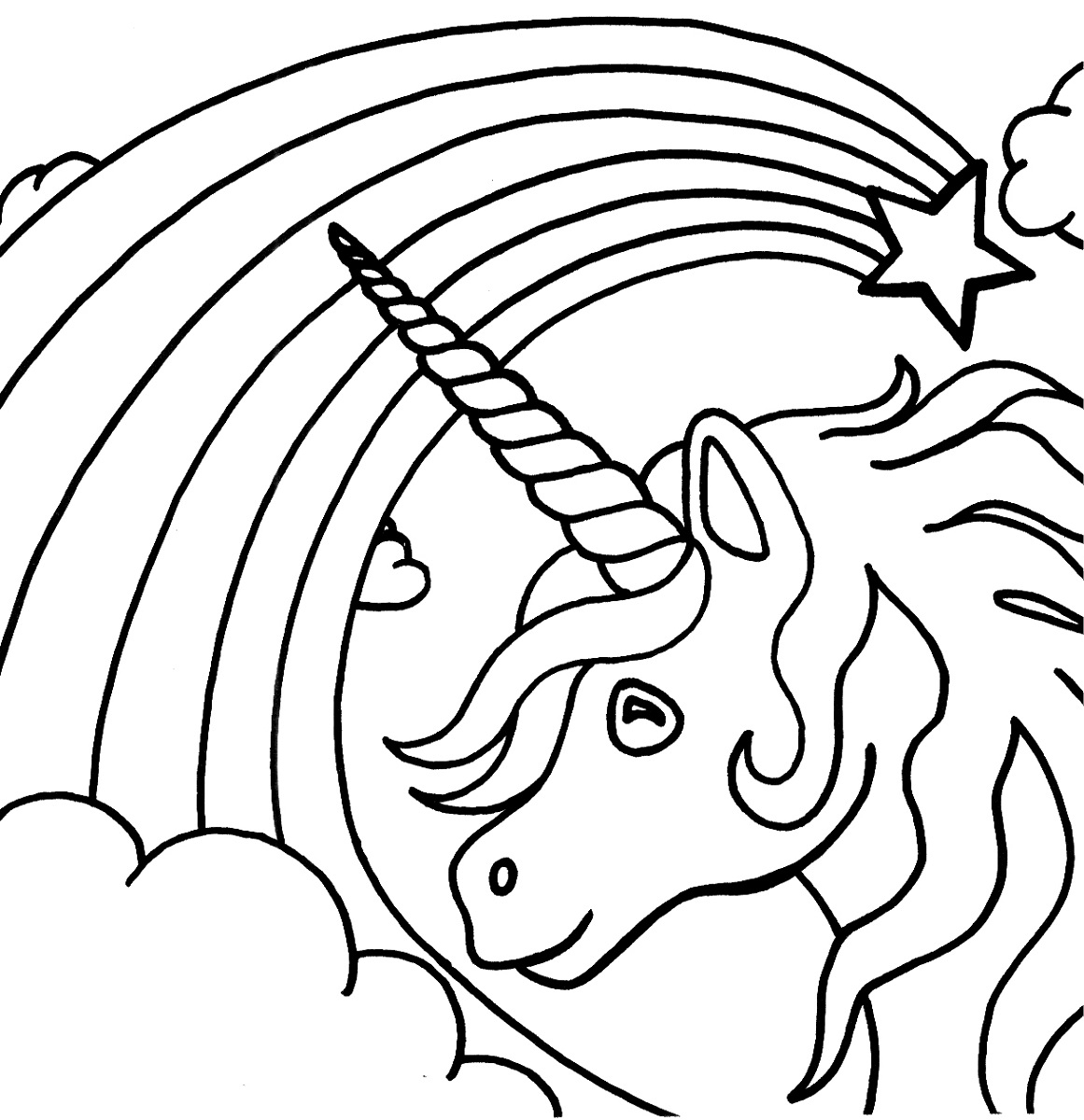 Cute Unicorn Coloring Pages Unicorn Coloring Pages For Kids At Getdrawings Free For