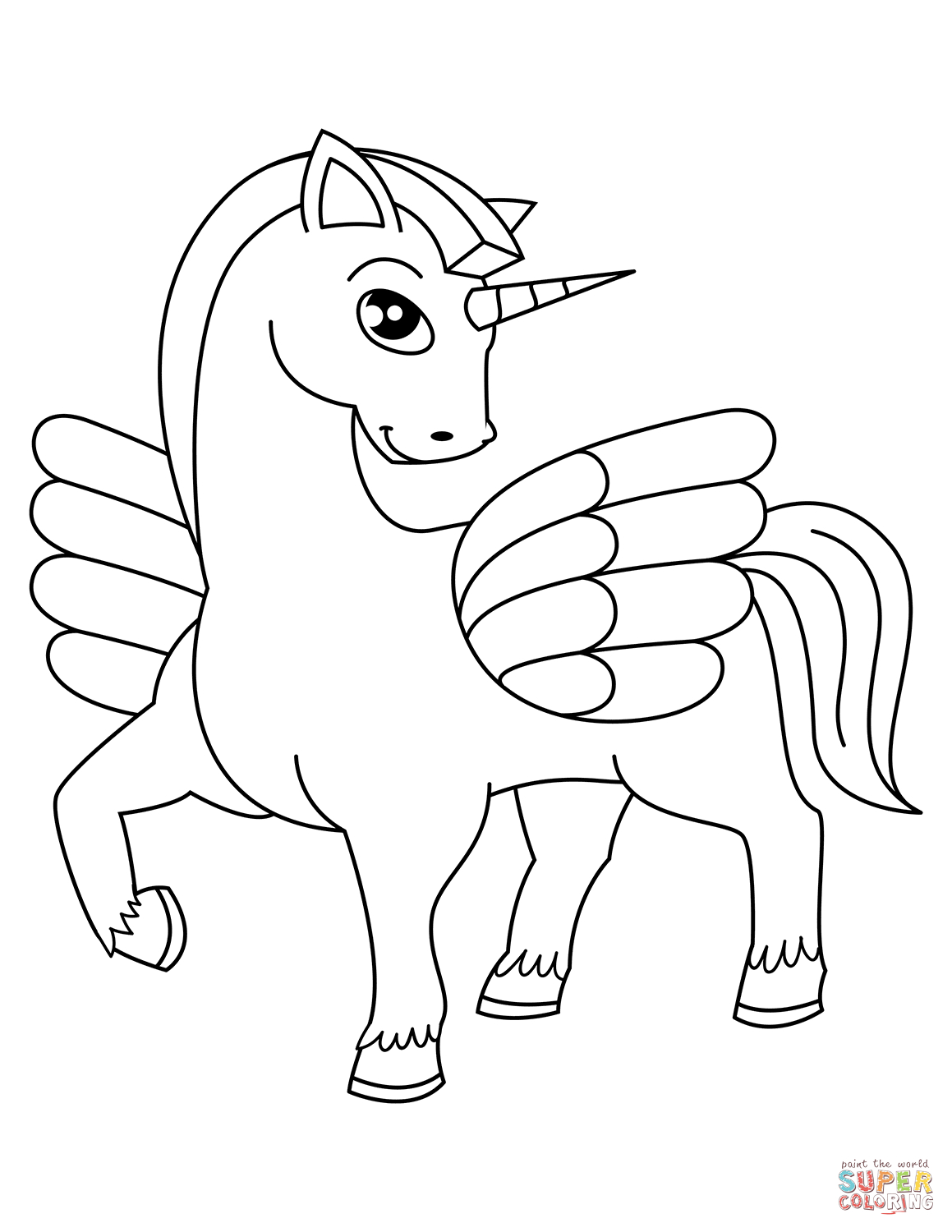 Cute Unicorn Coloring Pages Unicorn Coloring Pages Free Coloring Pages
