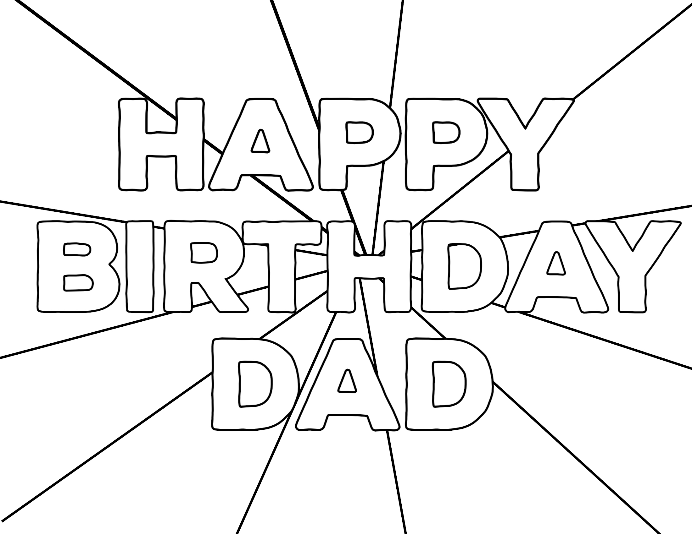 Daddy Coloring Pages Dad Coloring Pages With Free Printable Happy Birthday Paper Trail
