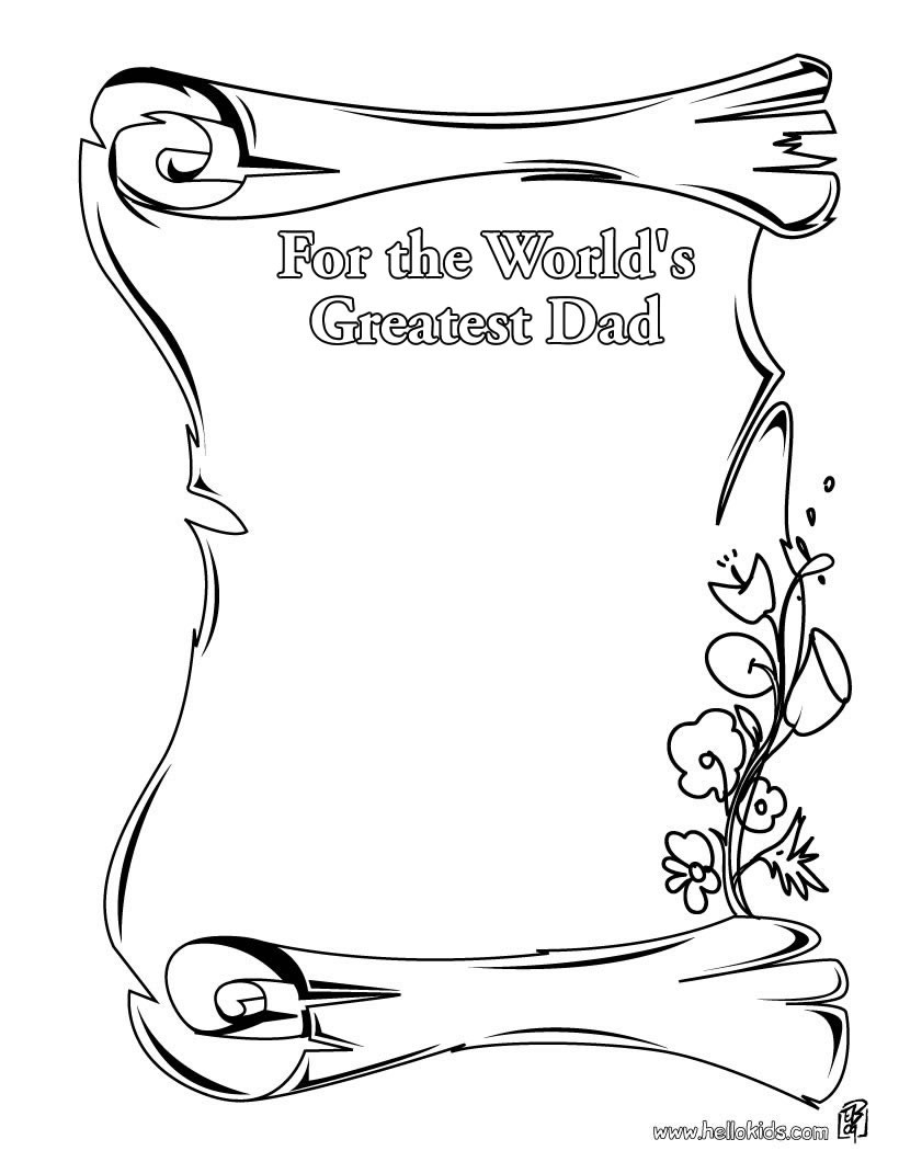 Daddy Coloring Pages For The World Greatest Dad Coloring Pages Hellokids